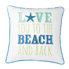 Love You To The Beach And Back Pillow