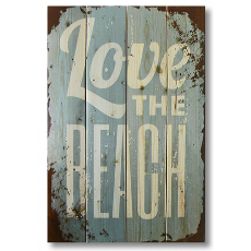 Love the Beach Wood Art
