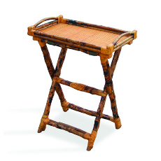 Coastal Bamboo Luggage Stand with Tray