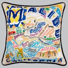 Malibu Hand Embroidered Pillow