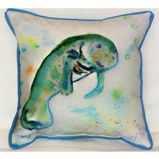 Betsy's Manatee Indoor Outdoor Pillow