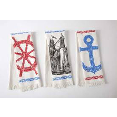 Maritime Sketch Hand Towels Set Of 3