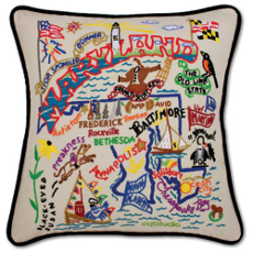 Maryland Hand Embroidered Pillow