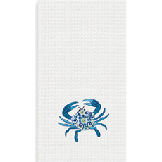 Meridian Crab Kitchen Waffle Weave Towel