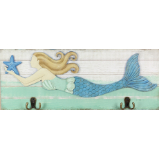 Mermaid Wood Wall Hook