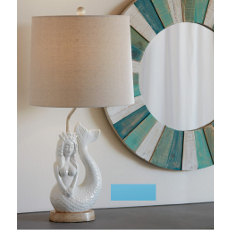 Ivory Mermaid Accent Lamp