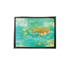 Pearl of the Sea Mermaid Canvas Art with Frame