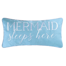 Mermaid Sleeps Here Pillow