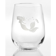 Mermaid Stemless Wine Glasses S/4