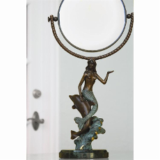 Mermaid with Dolphin Mirror