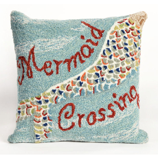 Mermaid Crossing Indoor Outdoor Pillow