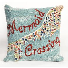Mermaid Crossing Indoor Outdoor Pillow