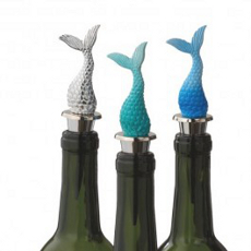 Mermaid Tail Wine Bottle Stopper (Set Of 3)