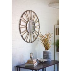 Metal and Rope Nautical Mirror