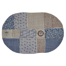 Millie Patchwork Oval Rug-Large