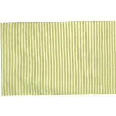 Mini Stripe Lime Indoor Outdoor Rug