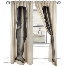 Moby Window Panel- Ink  50x84