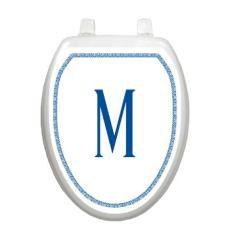 Monogram ElegantToilet Seat Decoration