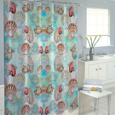 Multi Shells Shower Curtain