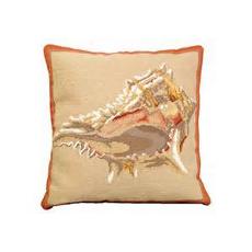 Murex Shell Needlepoint Pillow