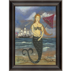 Nantucket Mermaid Framed Art