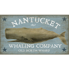 Nantucket Whale Wall Art