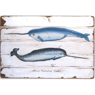 Narwhal Floorboard Wall Art