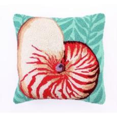Nautilus Hook Pillow 18x18
