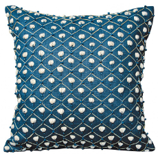 Navy Nature's Shell Game Pillow