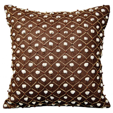 Brown Nature's Shell Game Pillow