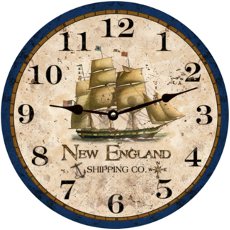 New England Shipping Company Clock