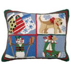 Nautical Christmas  II Hook Pillow