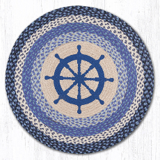 Nautical Wheel Round  Rug