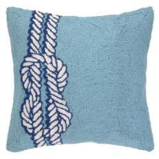 Nautical Knot On Blue Hook Pillow