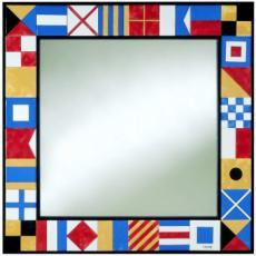 Nautical Flag Tiled Mirror