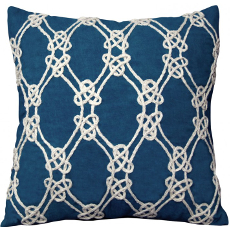Nautical Rope Pattern Pillow-Navy