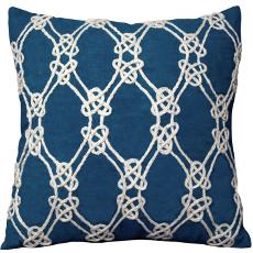 Nautical Rope Pattern Pillow-Navy