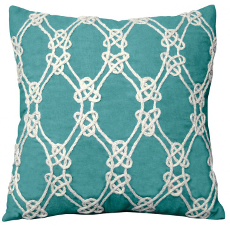 Nautical Rope Pattern Pillow-Turquoise