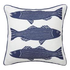 Navy Striper Fish Pillow