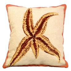 Sea Star  Needlepoint 100% Wool Thread Pillow