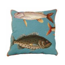 Saltwater Fish 1 Needlepoint Pillow