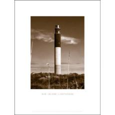 Oak Island Lighthouse Black Framed Art