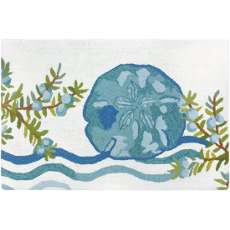 Ocean Tide Sand Dollar Accent Rug