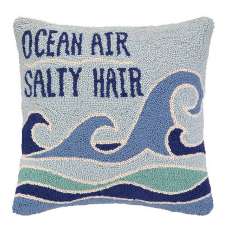 Ocean Air Salty Hair Hook Pillow