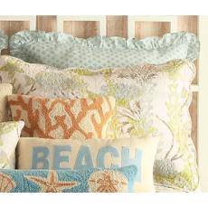 Ocean Botanical Coastal Bedding Standard Sham