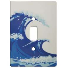 Ocean Wave Ceramic Single Switch Wall Plate