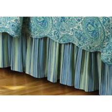 Oceana Paisley Dust Ruffle Bed Skirt
