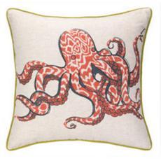 Octopus/Anchors Printed Pillow
