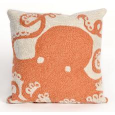 Octopus Coral Indoor Outdoor Pillow