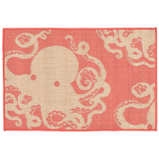 Octopus Coral Indoor Outdoor Rug